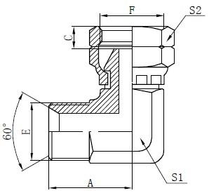 Desenul conectorului cot BSP