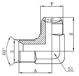 Adaptoare hidraulice BSP Desen