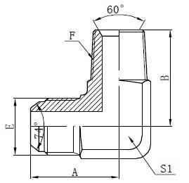 Adaptor pentru conectori BSPT pentru bărbați