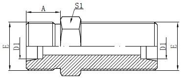 Conectori cu pereți etanși de metric